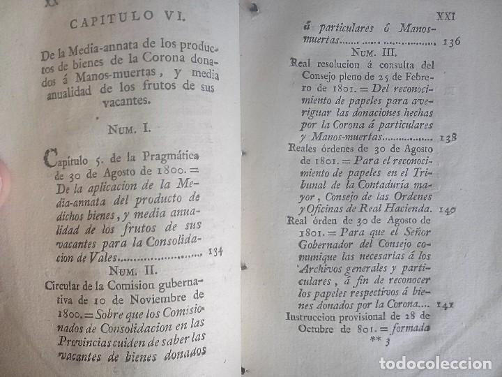 Libros antiguos: 1802 - Recopilación de providencias relativas a vales reales - deuda, desamortización, papel moneda - Foto 14 - 86486136
