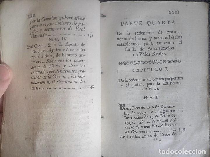 Libros antiguos: 1802 - Recopilación de providencias relativas a vales reales - deuda, desamortización, papel moneda - Foto 15 - 86486136