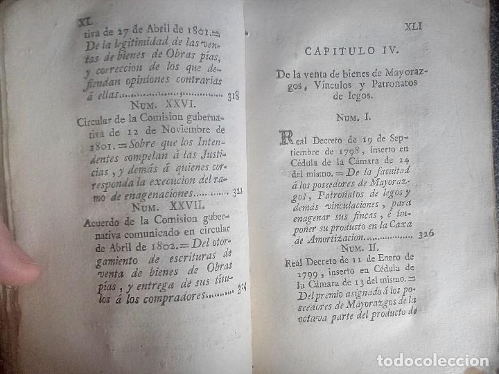 Libros antiguos: 1802 - Recopilación de providencias relativas a vales reales - deuda, desamortización, papel moneda - Foto 23 - 86486136