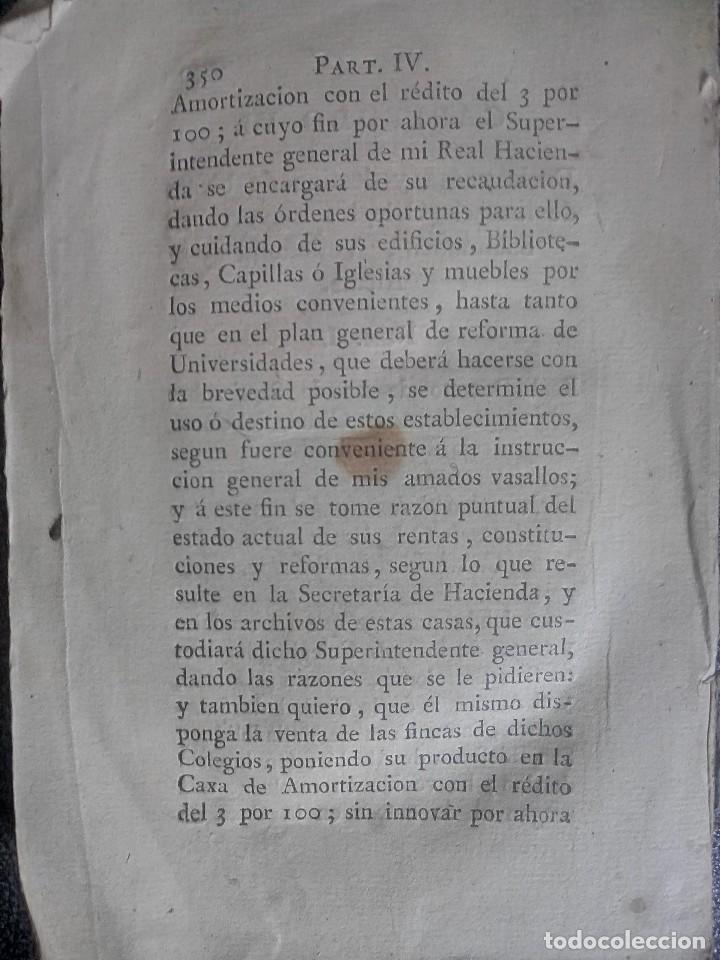 Libros antiguos: 1802 - Recopilación de providencias relativas a vales reales - deuda, desamortización, papel moneda - Foto 34 - 86486136