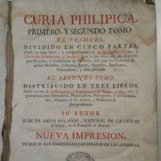 Libros antiguos: CURIA PHILIPICA 1778 TOMOS 1 Y 2 JUAN DE HEVIA BOLAÑOS MADRID. Lote 86849687