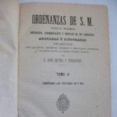 Libros antiguos: ORDENANZAS DE S.M. PARA DISCIPLINA Y SERVICIO DE SUS EJERCITOS . LEYES MILITARES . MADRID, 1880. Lote 87020252