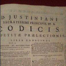 Libros antiguos: IMPRESIONANTE LIBRO DERECHO COMPENDIO LEGISLATIVO. CODICES LEGISLATIVOS. CASI 1000 PAGS AMBERES 1726. Lote 87317820