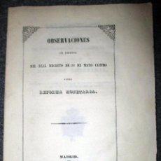 Libros antiguos: INTERESANTE LIBRITO SOBRE LA REFORMA MONETARIA DE 1847. MIDE 21 X 15 CM. 52 PÁGINAS MÁS UNA LÁMINA.. Lote 87353996