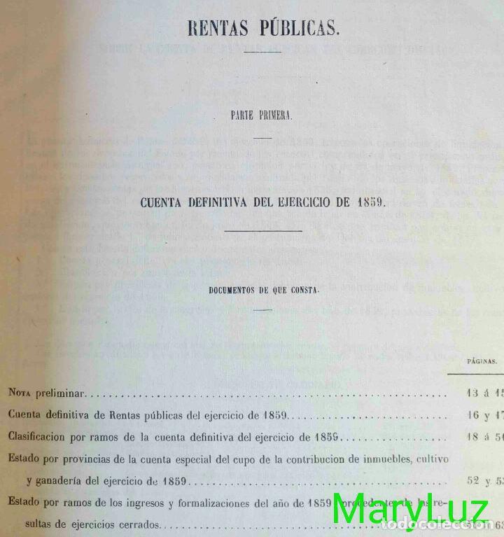 Libros antiguos: CUENTA GENERAL DEL ESTADO DEL AÑO 1860. - Foto 7 - 89592080
