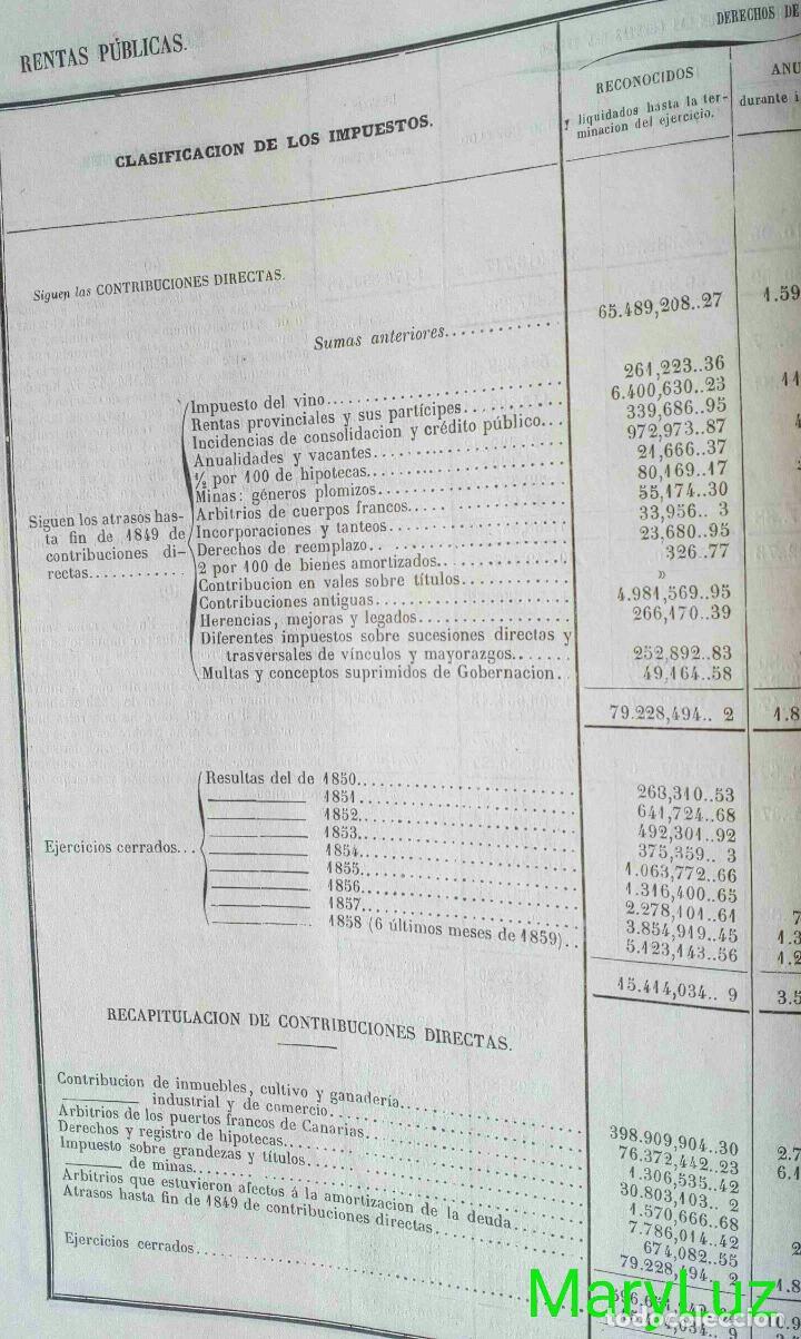 Libros antiguos: CUENTA GENERAL DEL ESTADO DEL AÑO 1860. - Foto 8 - 89592080
