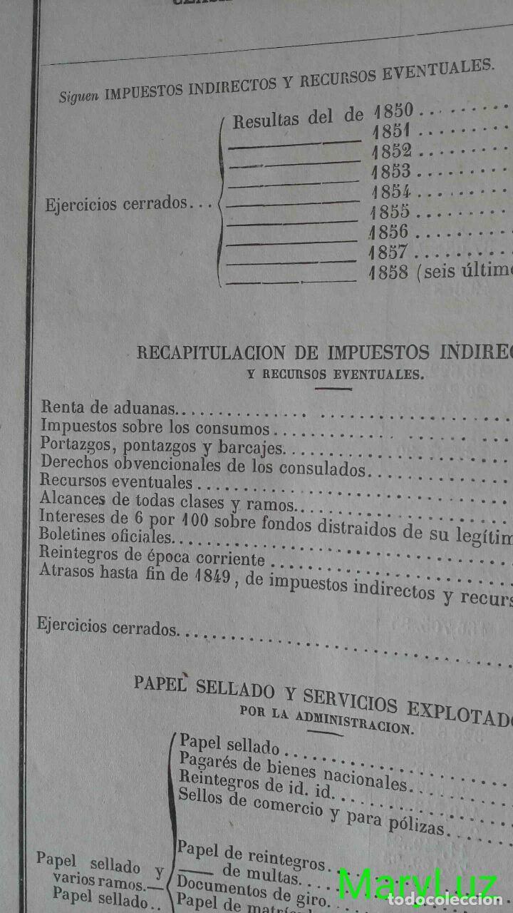 Libros antiguos: CUENTA GENERAL DEL ESTADO DEL AÑO 1860. - Foto 10 - 89592080