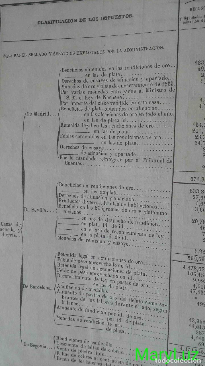 Libros antiguos: CUENTA GENERAL DEL ESTADO DEL AÑO 1860. - Foto 12 - 89592080