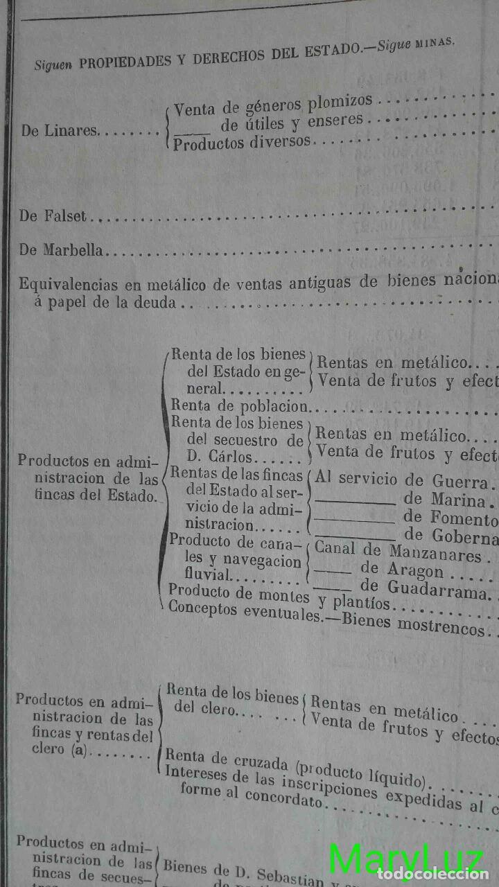 Libros antiguos: CUENTA GENERAL DEL ESTADO DEL AÑO 1860. - Foto 13 - 89592080