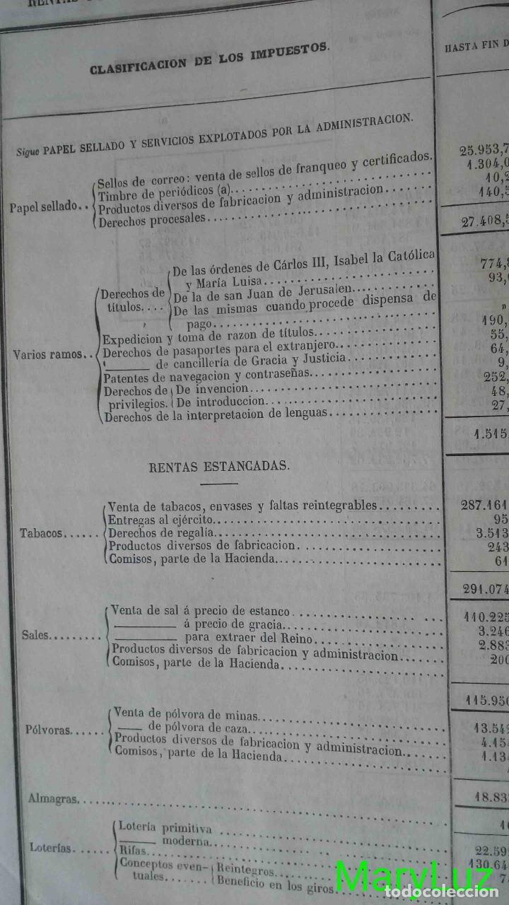 Libros antiguos: CUENTA GENERAL DEL ESTADO DEL AÑO 1860. - Foto 14 - 89592080