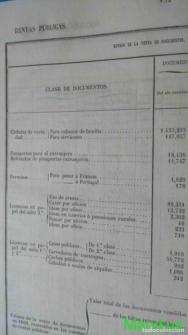 Libros antiguos: CUENTA GENERAL DEL ESTADO DEL AÑO 1860. - Foto 16 - 89592080