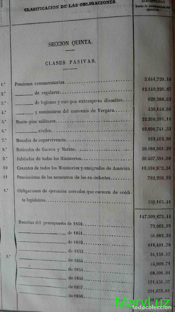 Libros antiguos: CUENTA GENERAL DEL ESTADO DEL AÑO 1860. - Foto 18 - 89592080