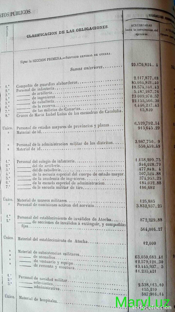 Libros antiguos: CUENTA GENERAL DEL ESTADO DEL AÑO 1860. - Foto 19 - 89592080