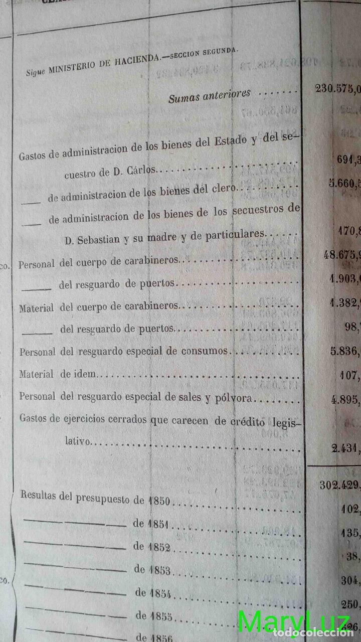 Libros antiguos: CUENTA GENERAL DEL ESTADO DEL AÑO 1860. - Foto 20 - 89592080