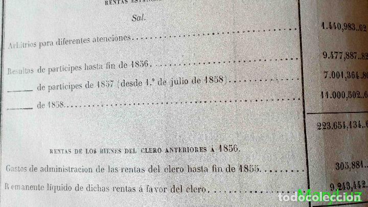 Libros antiguos: CUENTA GENERAL DEL ESTADO DEL AÑO 1860. - Foto 22 - 89592080