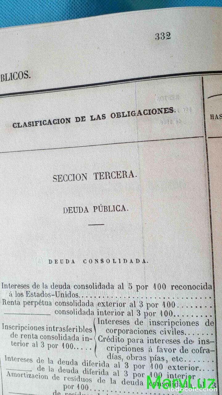 Libros antiguos: CUENTA GENERAL DEL ESTADO DEL AÑO 1860. - Foto 24 - 89592080