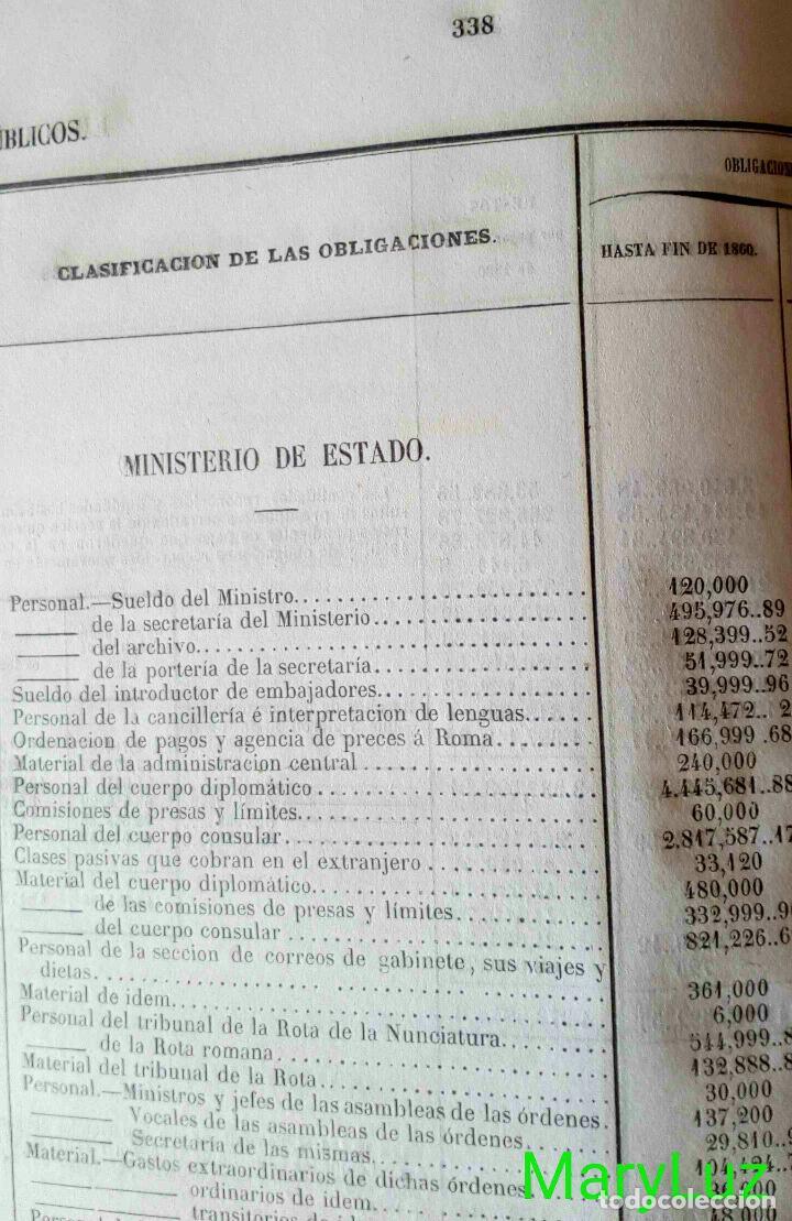 Libros antiguos: CUENTA GENERAL DEL ESTADO DEL AÑO 1860. - Foto 25 - 89592080