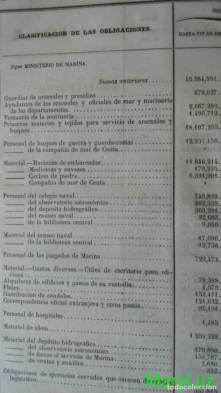 Libros antiguos: CUENTA GENERAL DEL ESTADO DEL AÑO 1860. - Foto 26 - 89592080