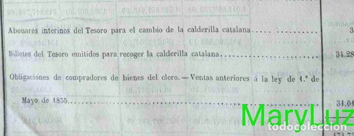Libros antiguos: CUENTA GENERAL DEL ESTADO DEL AÑO 1860. - Foto 28 - 89592080