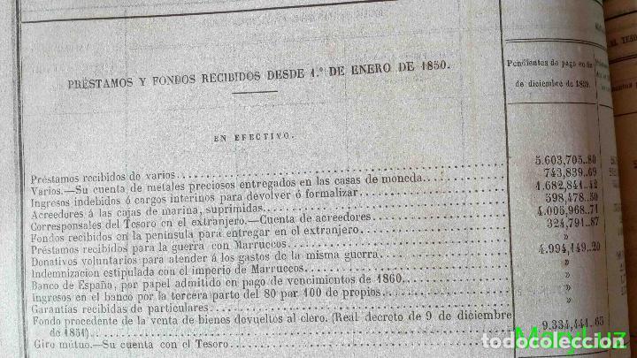 Libros antiguos: CUENTA GENERAL DEL ESTADO DEL AÑO 1860. - Foto 29 - 89592080