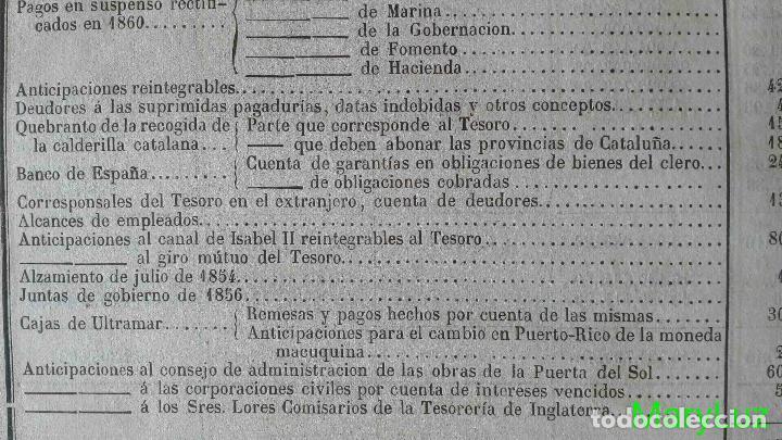 Libros antiguos: CUENTA GENERAL DEL ESTADO DEL AÑO 1860. - Foto 30 - 89592080