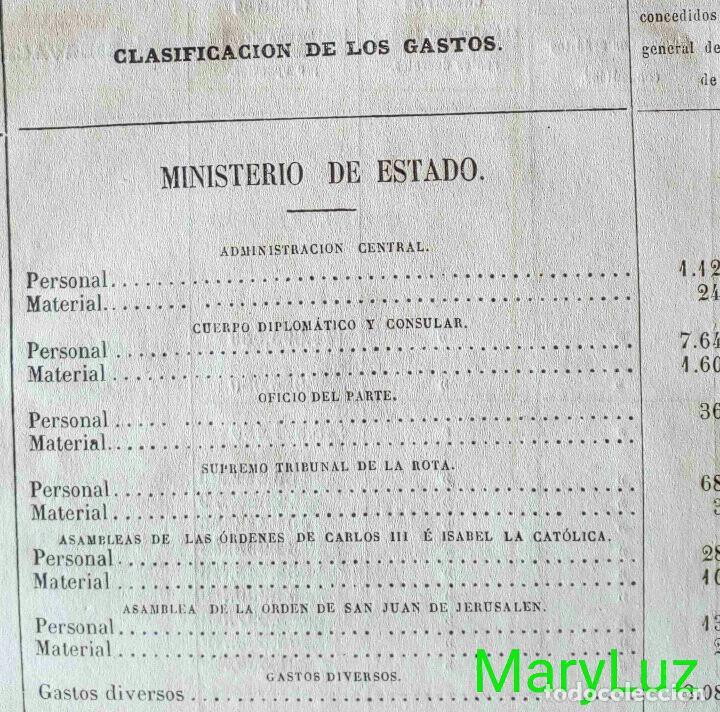 Libros antiguos: CUENTA GENERAL DEL ESTADO DEL AÑO 1860. - Foto 33 - 89592080