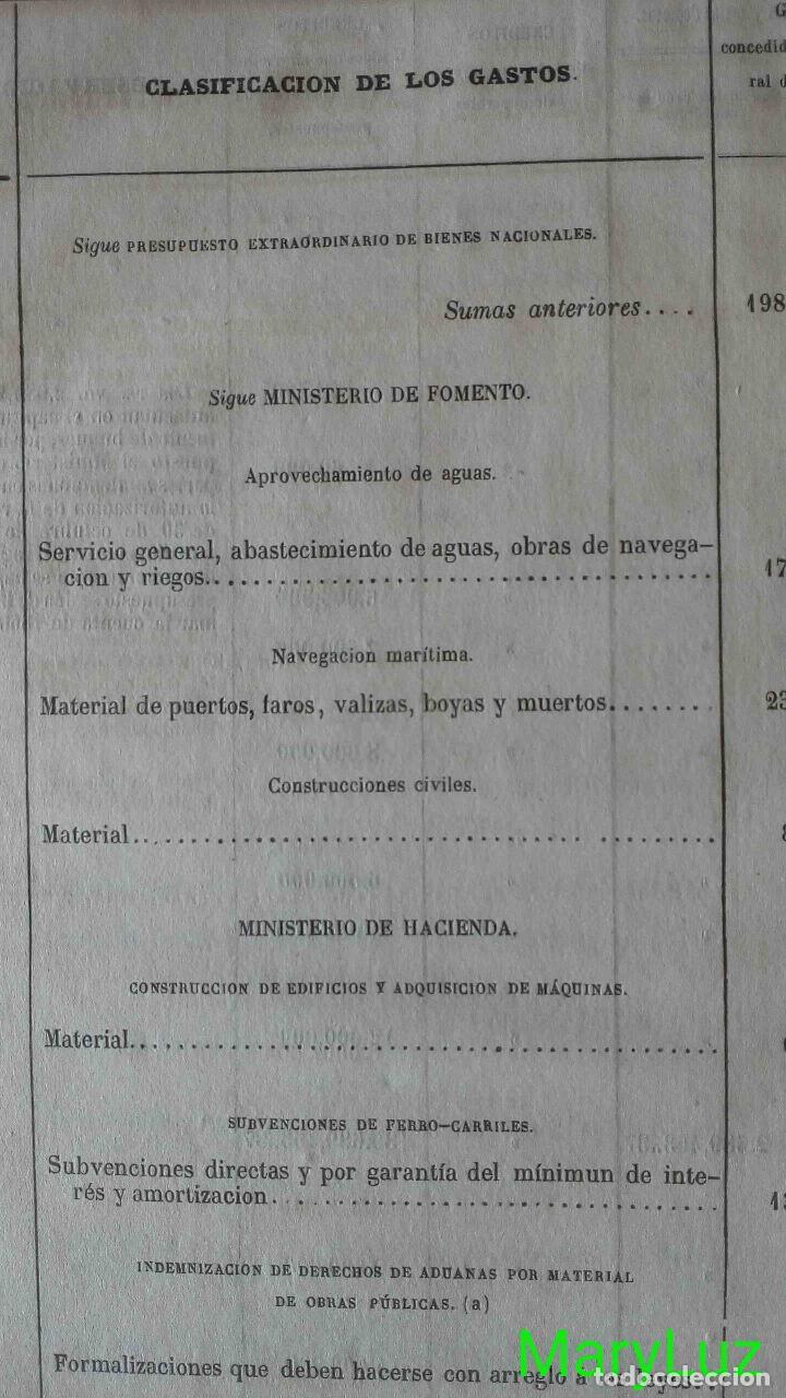 Libros antiguos: CUENTA GENERAL DEL ESTADO DEL AÑO 1860. - Foto 34 - 89592080