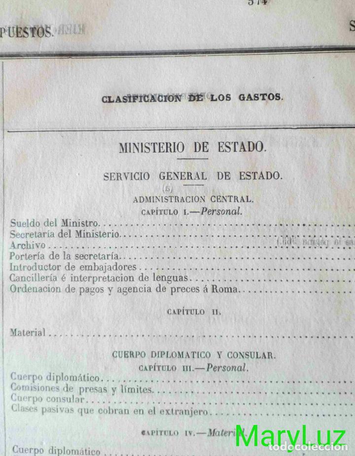 Libros antiguos: CUENTA GENERAL DEL ESTADO DEL AÑO 1860. - Foto 35 - 89592080