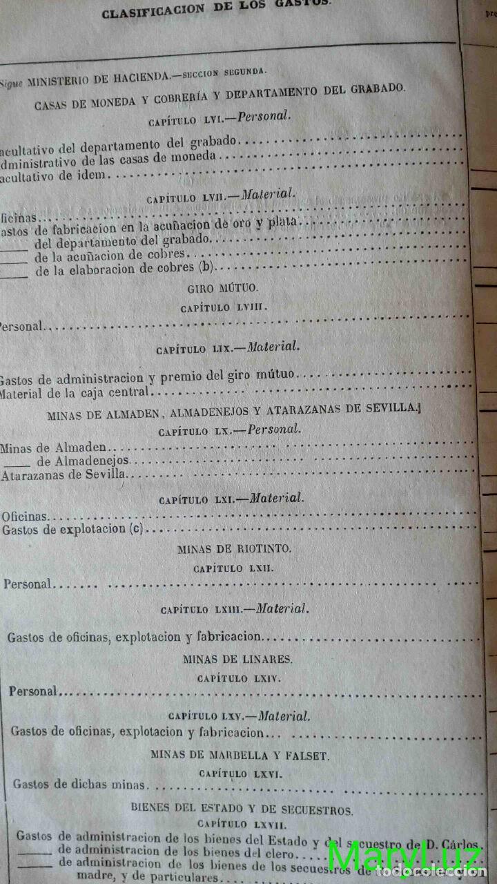 Libros antiguos: CUENTA GENERAL DEL ESTADO DEL AÑO 1860. - Foto 38 - 89592080
