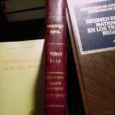 Libros antiguos: DERECHO CIVIL. PARTE GENERAL DERECHO DE PROPIEDAD, DERECHO REALES.. Lote 89685444