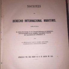 Libros antiguos: NOCIONES DERECHO MARITIMO INTERNACIONAL COLONIAL HABANA CUBA 1863 COLONIA CESAREO FERNANDEZ. Lote 89790348