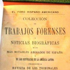 Libros antiguos: COLECCIÓN DE TRABAJOS FORENSES (1897) SIN USAR. DAÑADO. Lote 90174284
