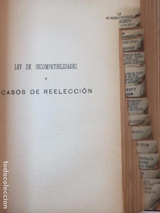 Libros antiguos: Manual Uso señores diputados 1912 Alfonso XIII constitución monarquía índice de leyes usado - Foto 7 - 90194952