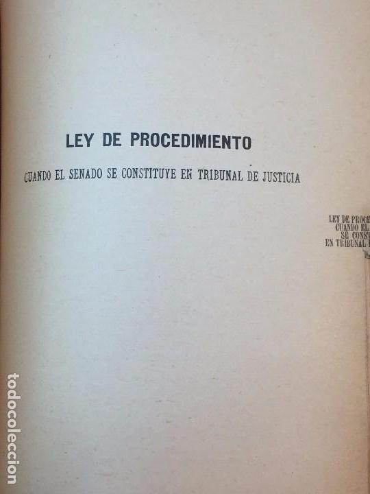 Libros antiguos: Manual Uso señores diputados 1912 Alfonso XIII constitución monarquía índice de leyes usado - Foto 8 - 90194952