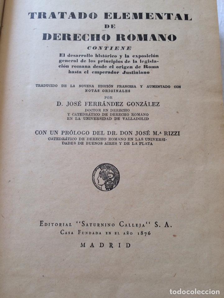 Libros antiguos: Tratado elemental de Derecho Romano Eugene Petit (1927) - Foto 8 - 90814483
