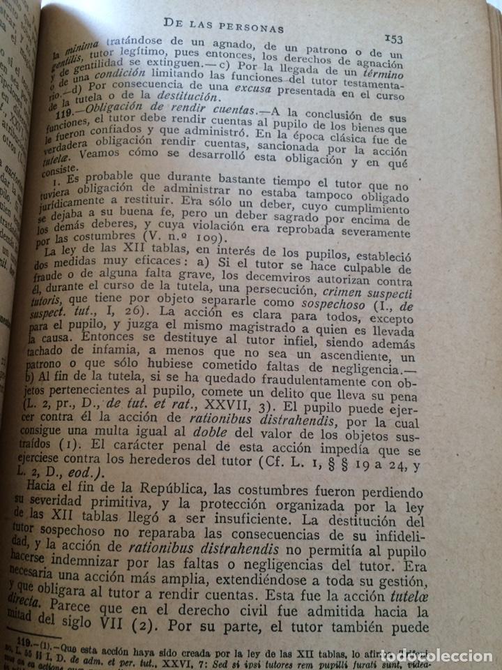 Libros antiguos: Tratado elemental de Derecho Romano Eugene Petit (1927) - Foto 12 - 90814483