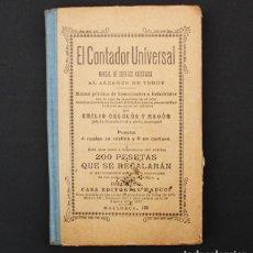 Libros antiguos: EL CONTADOR UNIVERSAL, MANUAL CUENTAS AJUSTADAS EMILIO DELCLOS Y RAGON, MAUCCI ¿1910? 16 X 10,50 CM. Lote 90826530