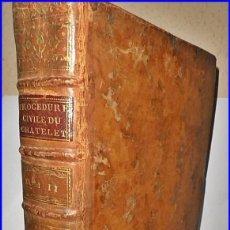 Libros antiguos: AÑO 1779: VOLUMINOSO LIBRO DE DERECHO DEL SIGLO XVIII EXCELENTEMENTE CONSERVADO.. Lote 91401800