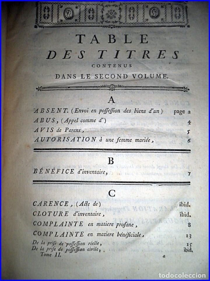 Libros antiguos: AÑO 1779: VOLUMINOSO LIBRO DE DERECHO DEL SIGLO XVIII EXCELENTEMENTE CONSERVADO. - Foto 4 - 91401800