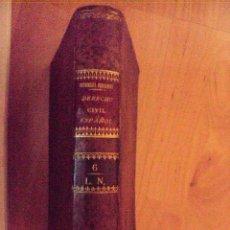 Libros antiguos: CODIGOS O ESTUDIOS FUNDAMENTALES SOBRE EL DERECHO CIVIL ESPAÑOL DE BENITO GUTIERREZ 1878. Lote 91743815