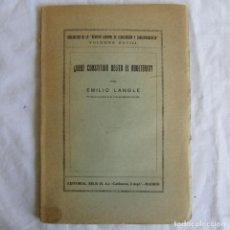 Libros antiguos: ¿DEBE CONSTITUIR DELITO EL ADULTERIO? EMILIO LANGLE ED. REUS MADRID. Lote 92183440