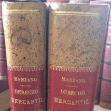 Libros antiguos: TRATADO DE DERECHO MERCANTIL ESPAÑOL TOMOS I Y II 1916. Lote 92857748