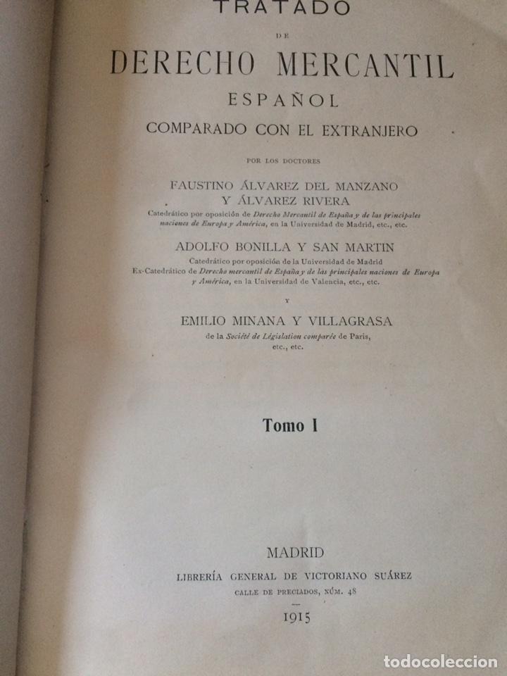 Libros antiguos: Tratado de Derecho mercantil español tomos I y II 1916 - Foto 3 - 92857748
