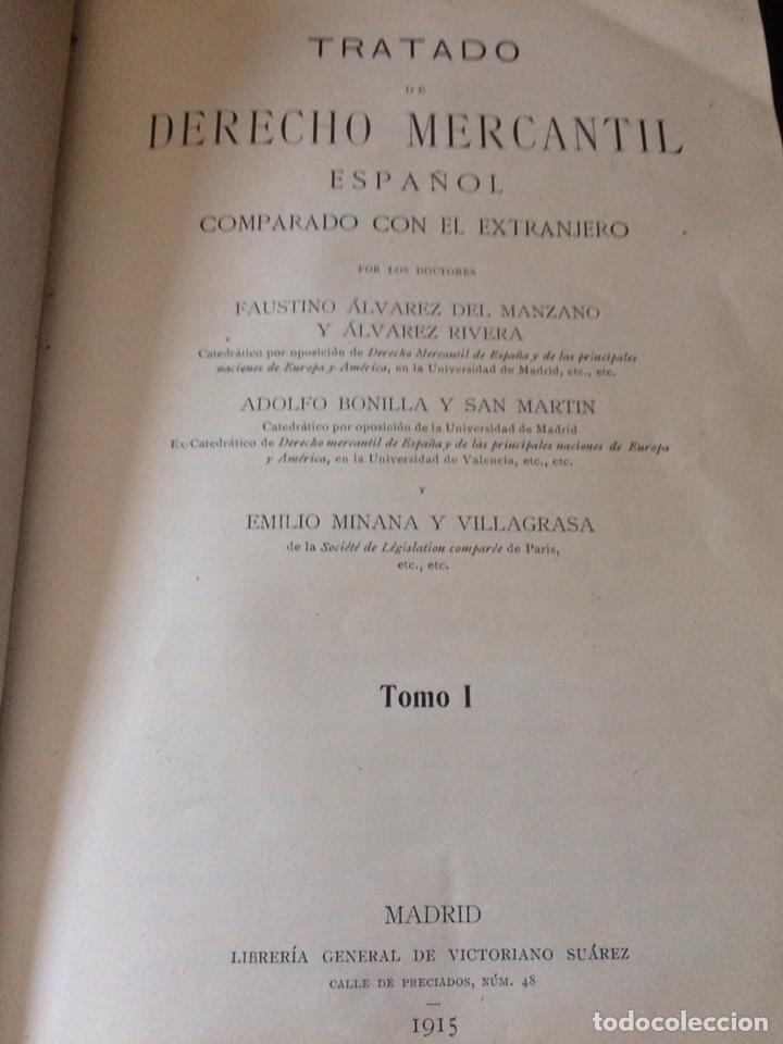 Libros antiguos: Tratado de Derecho mercantil español tomos I y II 1916 - Foto 9 - 92857748