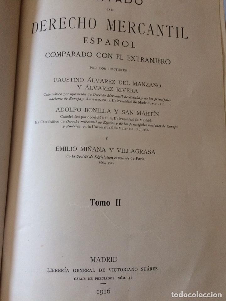 Libros antiguos: Tratado de Derecho mercantil español tomos I y II 1916 - Foto 10 - 92857748