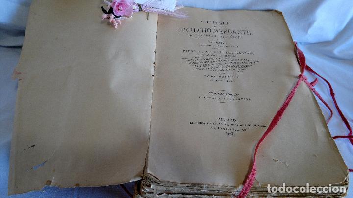 Libros antiguos: CURSO DE DERECHO MERCANTIL FILOSÓFICO, HISTÓRICO Y VIGENTE, ÁLVAREZ DEL MANZANO Y ALVAREZ RIVERA - Foto 4 - 93940665