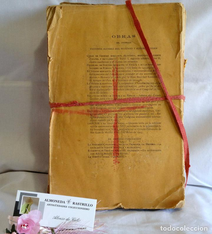 Libros antiguos: CURSO DE DERECHO MERCANTIL FILOSÓFICO, HISTÓRICO Y VIGENTE, ÁLVAREZ DEL MANZANO Y ALVAREZ RIVERA - Foto 11 - 93940665