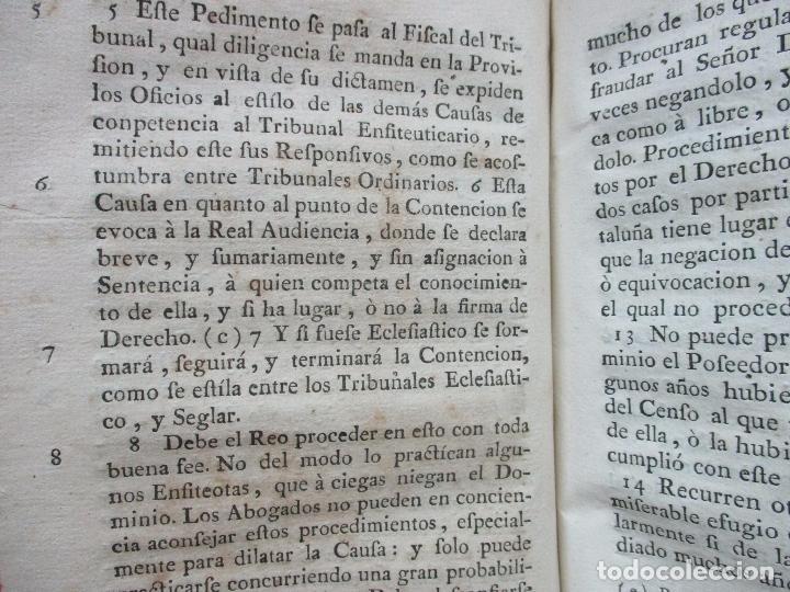 Libros antiguos: TRATADO DE LA CABREVACION SEGUN EL DERECHO Y ESTILO DEL PRINCIPADO DE CATALUÑA. - Foto 4 - 93998555