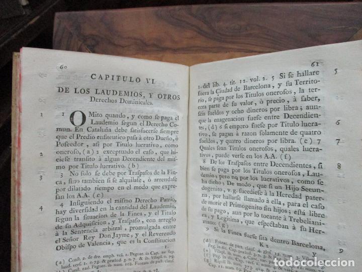 Libros antiguos: TRATADO DE LA CABREVACION SEGUN EL DERECHO Y ESTILO DEL PRINCIPADO DE CATALUÑA. - Foto 5 - 93998555