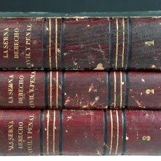 Libros antiguos: ELEMENTOS DEL DERECHO CIVIL Y PENAL DE ESPAÑA. TOMOS I, II Y III. IMP. F. SANCHEZ. 1855.. Lote 94143590